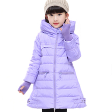 Girl's Winter Jacket Down Jackets Coats 2016 NEW Warm Kids Baby Thick Duck Down Jacket Children Outerwears With Gloves YRF33