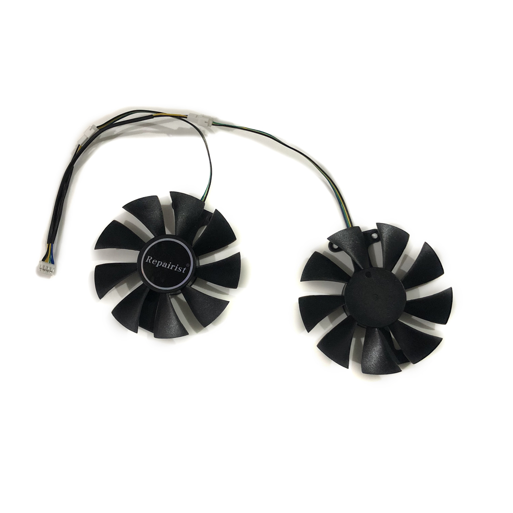 Repairist 2pcs/lot Geforce GTX950 GTX960 GPU Graphics cards cooler VGA <font><b>fan</b></font> For <font><b>Zotac</b></font> <font><b>GTX</b></font> 950/<font><b>960</b></font> AMP Video Card cooling image