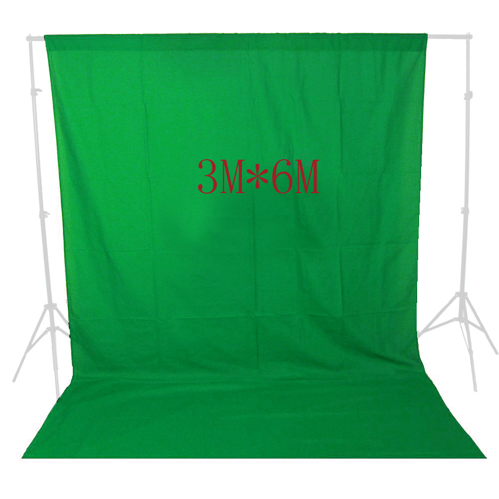 ASHANKS Photography Backdrops Solid Green Screen 10x19ft Chromakey Cloth Backgrounds Porta Retrato  For Photo Studio