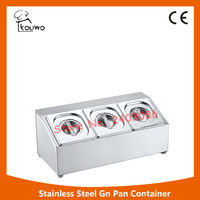 Stainless Steel Gastronorm Containers Food Storage Container GN Pans With Lids