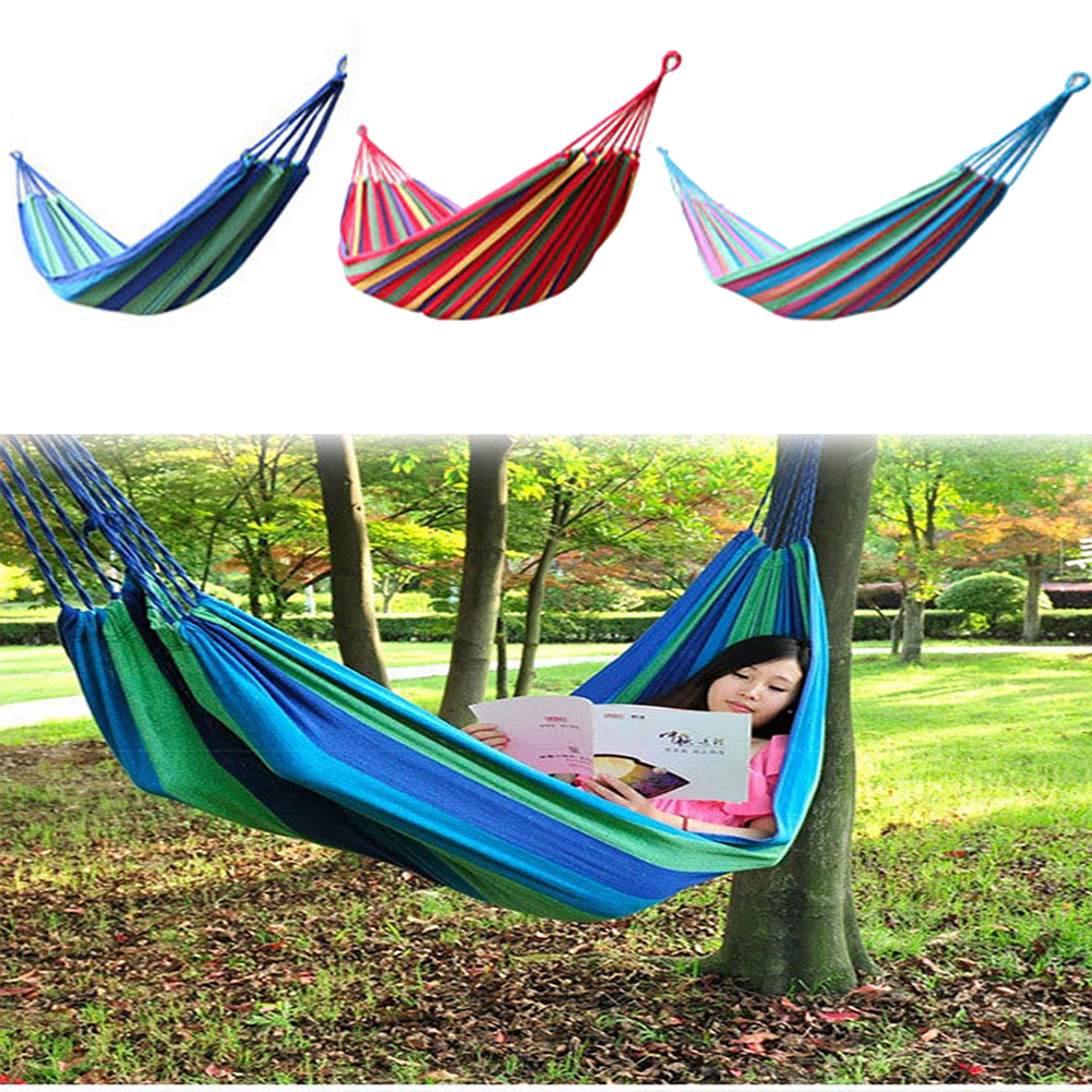 Top Sell Outdoor Hammock Cotton Fabric Thickening Hammock Air Chair Hanging Swinging Camping garden swing Maximum Payload 250KG