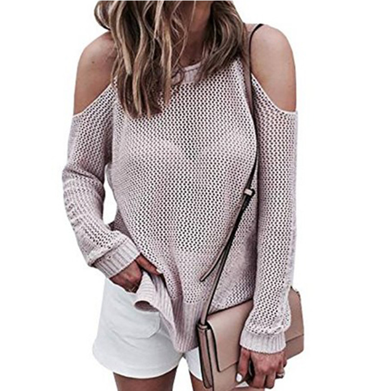 sweater women Casual off-shoulder knitwear womens elegant Selvedge sweater pullover pullover in the fall fashion new sweater