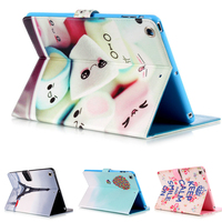 Ultra Thin Stand Design PU Leather case for ipad 3 4 2 Colorful Flip Smart Cover for iPad air 1/2 Mini1/2/3/4 Luxury Wallet Flip