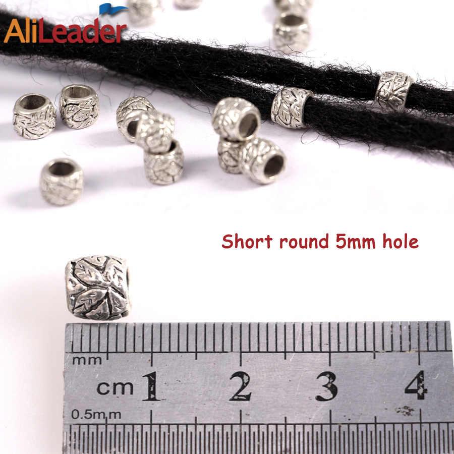 Alileader Dreadlock Perlen Tibet Silber Perle Einstellbare Haar Braid Manschetten 10 Teile/los Dreadlock Ringe Haar Werkzeuge Für Häkeln Zöpfe