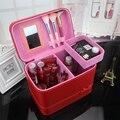 2016 Ladies Professional Makeup Organizer Box Travel Top Handle Tote Cosmetic Case Large Capacity Storage Cosmetic Bag Vanity