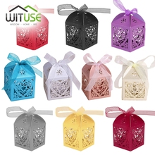 Cheap 50PCS SALE Colorful New Ribbon Jewery Organizer Box Rings Storage Cute Box Small Gift Box For Rings Earrings