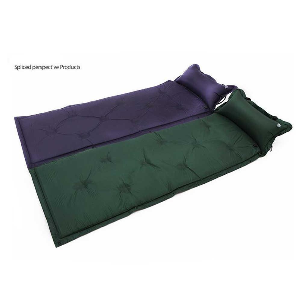 Открытый Надувной Спальный Мешок Пляжный матрац Pad с подушки детские Matelas Кемпинг kissen Air диван