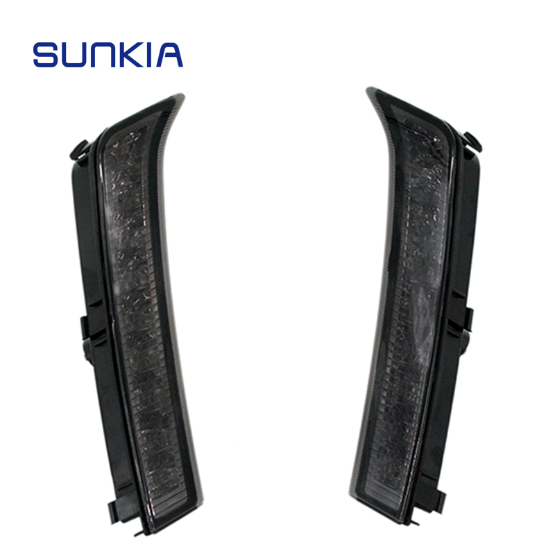 2Pcs/Pair SUNKIA Daylight Fog Lamp Car LED Daytime Running Light Black Cover DRL for Subaru Forester 2013 2014 2015 2016 1 pair daytime running lights drl daylight car white led drl fog head lamp cover car styling for subaru forester 2013 2014 2015