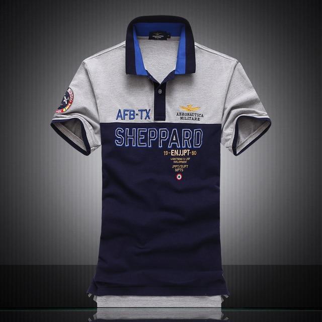 2016 Новый повседневный стиль polo марка AERONAUTICA Militare мужская Рубашка, Camisas Masculinas хлопок мужские Рубашки Марка одежды