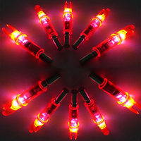 12Pcs LED Lighted Arrow Nock Red For ID 6 2mm Hunting Shooting Archery Arrows