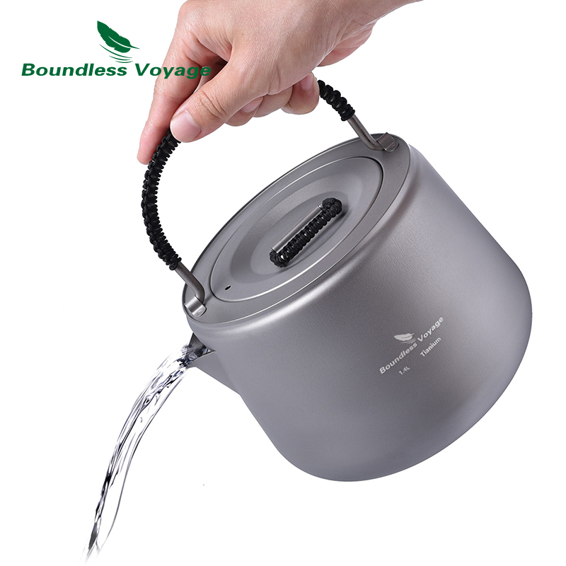 Boundless Voyage 1.4L Titanium Kettle with Filter Camping Water Coffee Tea Pot Anti-scalding Handle Lid for Induction Cooker ледис формула больше чем поливитамины 60 капс