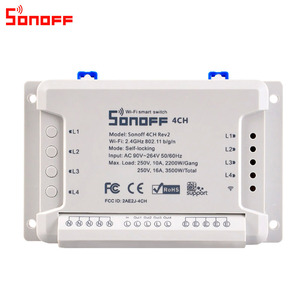 Image 2 - Itead Sonoff 4CH R2 Smart Wifi Switch 4 Gang Smart Home Remote Control Light Switch Works with Alexa Google Home eWeLink APP