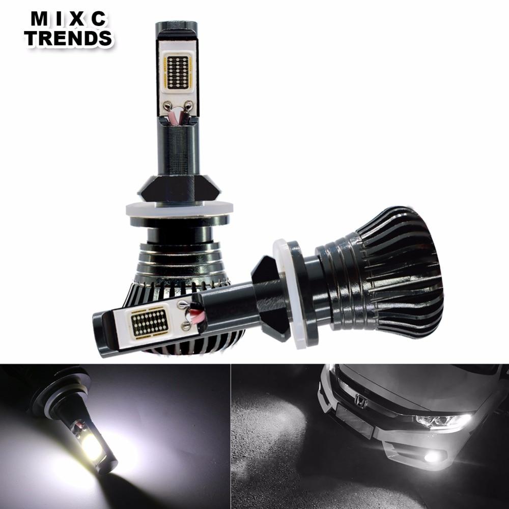 2Pcs Strobe LED H1 H3 H4 H7 H8 H9 H11 9005 HB3 9006 HB4 880 881 Car Headlight Fog Lights Driving Lamp Flashing Emergency Lights