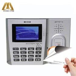 ZK MU260 RFID карты посещаемость времени EM карты время часы TCP/IP USB биометрический рекордер времени с ID кард-ридер посещаемость сотрудников