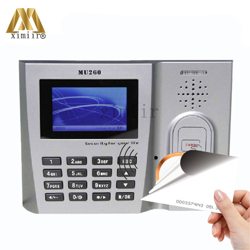 ZK MU260 RFID Card Time Attendance EM Card Time Clock TCP/IP USB Biometric Time Recorder With ID Card Reader Employee Attendance