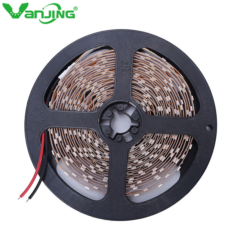 5M 300led SMD3528 LED Strip 12V Ikke-vanntett Diode Tape RGB Cool / Warm Hvit Rød Grønn Blå Gul Lys SMD LED Ribbon