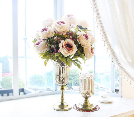 Maison décoration verre Vase créatif bonsaï conteneur paysage bureau Terrarium pot de fleurs Transparent table plante Vase LY385