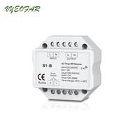 New S1 B Led Triac Dimmer Controller 2 4GHz RF Wireless Remote Input Voltage 100 240VAC