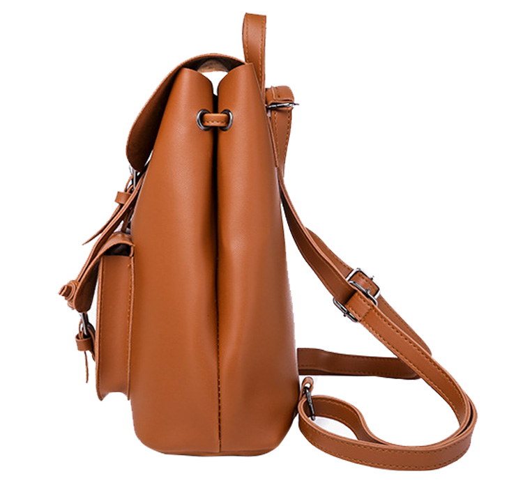 Backpack Women Pu Leather Female Backpacks Teenager School Mochila Feminina Rucksack Mochilas Mujer 2019 in Backpacks from Luggage Bags