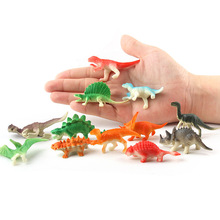 12pcs/set Mini Size Animals Dinosaur Simulation Toy Cool Play Dinosaurs Model Action Figures Classic Ancient Collection For Boys large size classic dinosaur toy triceratops soft animal model collection for boys action