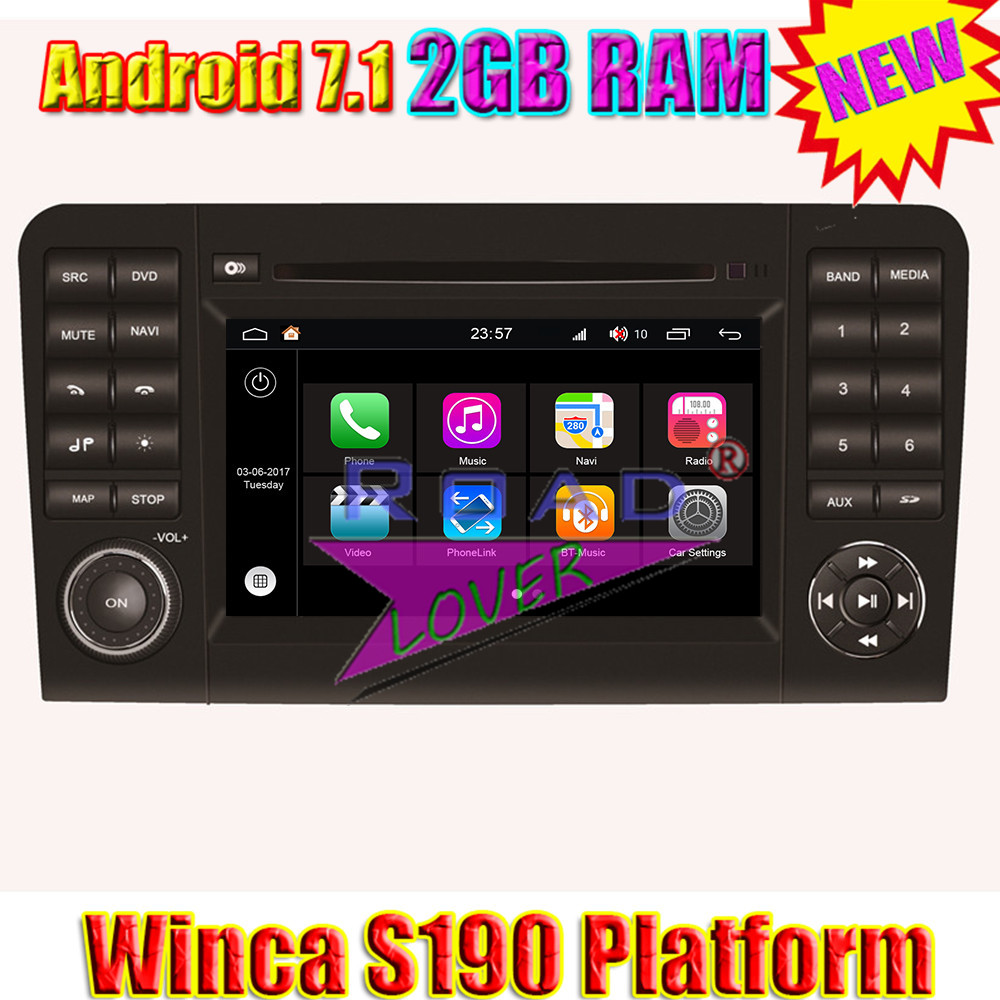 Winca S190 Android 7.1 Quad Core Car Media Center DVD Player For Benz ML W164 GL X164 Stereo GPS Navigation Auto Radio 2Din MP3