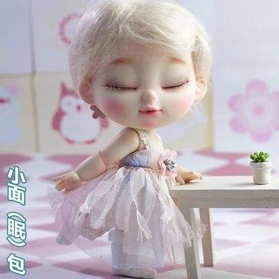 BJD sd sleepy BRU 1/8 nude ตุ๊กตาสำหรับของขวัญฟรีตา-ใน ตุ๊กตา จาก ของเล่นและงานอดิเรก บน   1