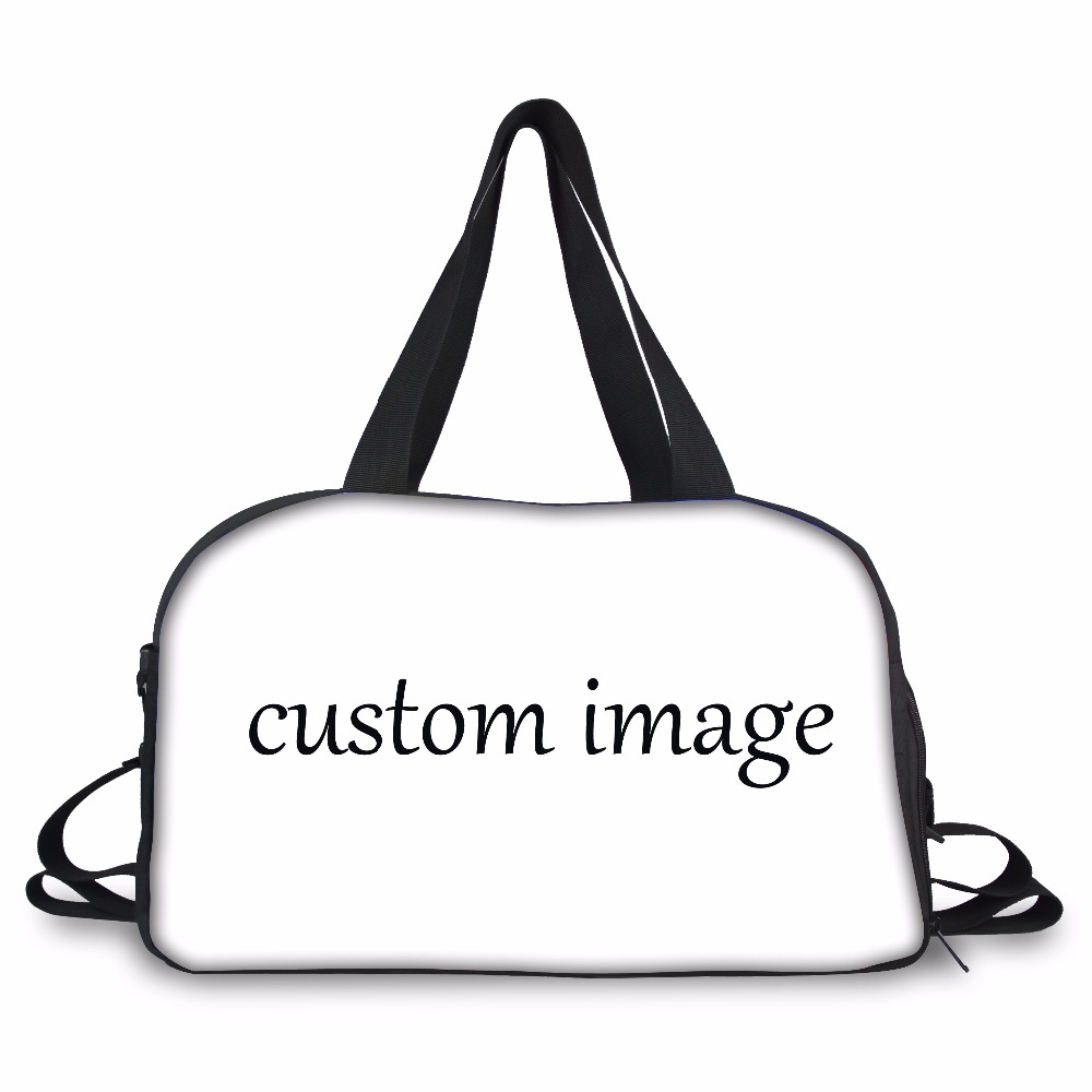 FORUDESIGNS Custom your picture Carry on Luggage Bag Women Travel Bag Teenager Duffel Bag Independent Shoe Pocket Weekend Bag in Travel Bags from Luggage Bags