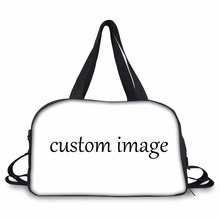 FORUDESIGNS Custom your picture Carry on Luggage Bag Women Travel Teenager Duffel Independent Shoe Pocket Weekend