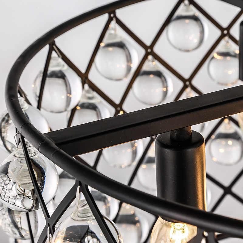 Ретро-хрустальные капли Люстра E14 висящая лампа современных люстр свет для прихожей Кухня Столовая Спальня Спальня Спальня