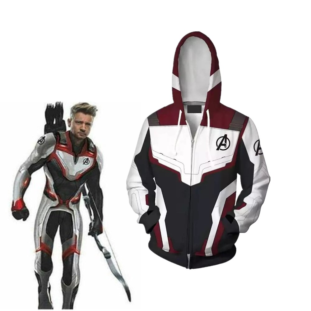 Avengers 4 Endgame Quantum Realm avengers endgame hoodie 3D Print Hoodies Men women Zipper Sweatshirts Coat Cosplay Costume