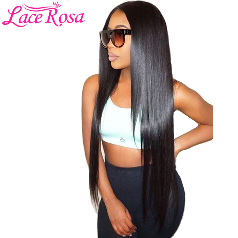 Lace Rosa Glueless Lace Front Human Hair Wigs With Baby Hair Peruvian Straight Lace Wigs Pre Plucked Lace Front Wig Remy Hair