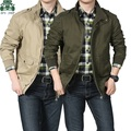 2014 afs jeep man's casual jackets,100% cotton slim clothes,autumn/winter motorcycle jacket,fashionable man's outwear, plus size
