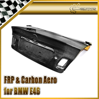 Car styling For BMW E46 Carbon Fiber OEM Rear Trunk(2Door or 4door,98 01 or 02 05) Glossy Fibre Boot Trim Auto Decklid Body Kit