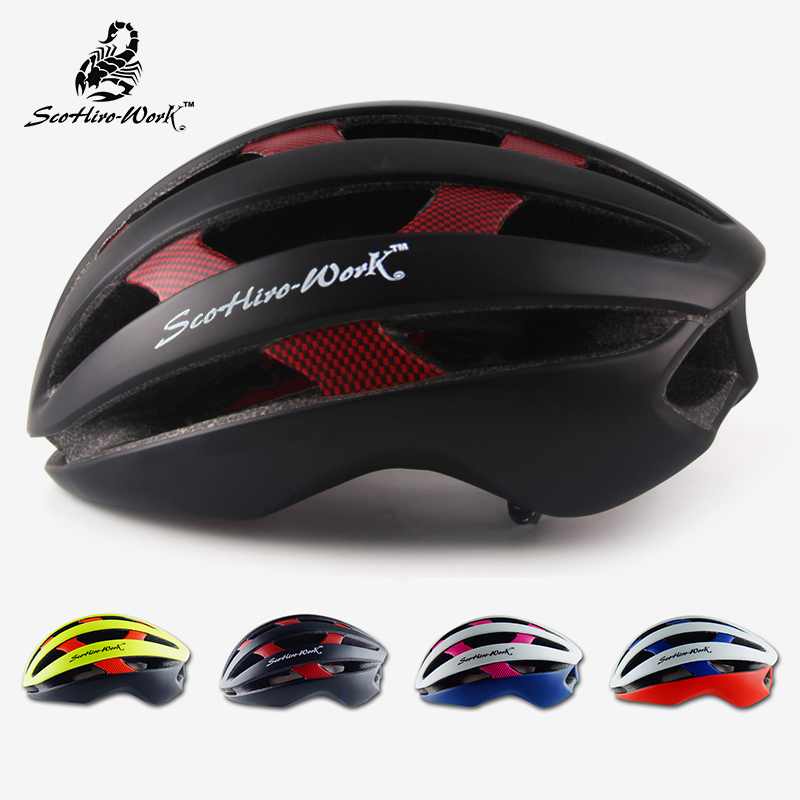 цена на SCOHIRO-WORK EPS PC road mtb mountain bicycle helmet men women ultralight bike helmet Casco Ciclismo cycling equipment 54~60cm
