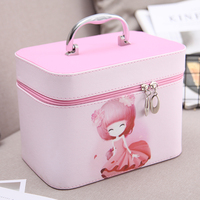 The New Cosmetic Bags Travel Portable Cosmetic Cases Storage Bags Large Capacity Multi Function Professional Lady