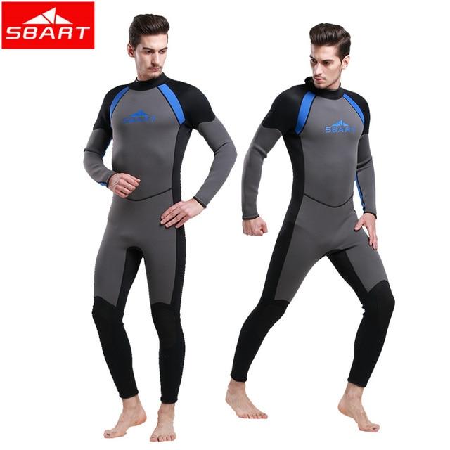 f75595a703 Sbart neoprene wetsuit triathlon suit scuba diving suit men 3mm neoprene  surfing wetsuit for spearfishing
