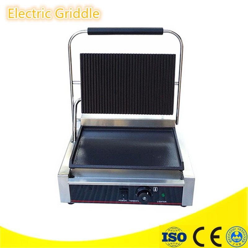 Small Electric Griddles Professional Non-stick Pan Steak Machine Food Barbecue Machine Stainless Steel Housing fast food leisure fast food equipment stainless steel gas fryer 3l spanish churro maker machine