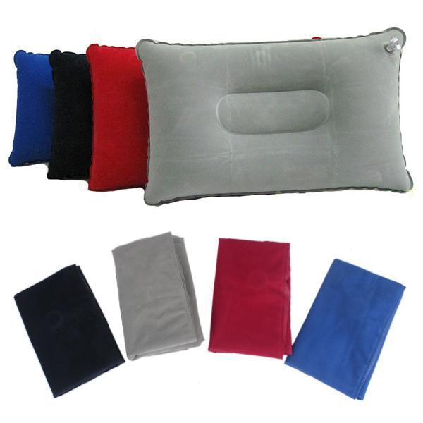 4 colors functional new inflatable pillow with velvet double sided for travel hb88china