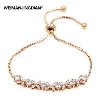 FREE DHL FEDEX 200 Sparkling Cubic Zirconia Stone Bouquet Adjustable Bracelets
