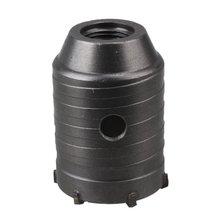 Silver Tone 50mm Dia Carbide Tipped TCT Core Drill Bit Masonry Concrete Brick Hole Saw Cutter Pilot Drill