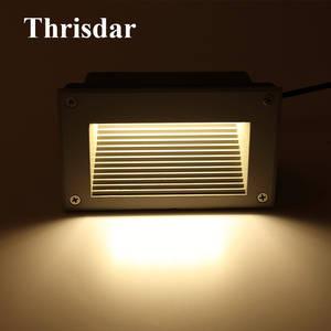 Thrisdar 4 PCS 3 W 5 W Waterproof Recessed Wall Corner Light