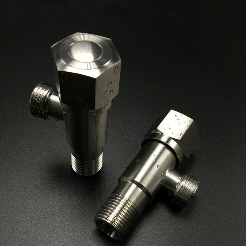 2 PCS  Stainless Steel Angle Valve  Filling Valves Brushed Finish Wall Mounted Thread G1/2 Inch Water Stop Valve