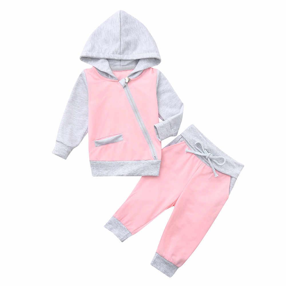 Худи для малышей, малышей, маленьких девочек, Топы + штаны, комплекты одежды с героями мультфильмов, комплект одежды на молнии, толстовки, 1n16 uscj
