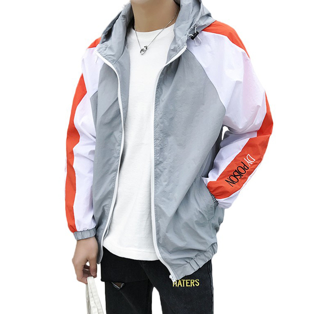 Bomber Summer Jacket Men Casual Coat Slim Fit Streetwear Windbreaker Jackets Men Hip Hop Moletom Masculino Men Clothes 2018 J096