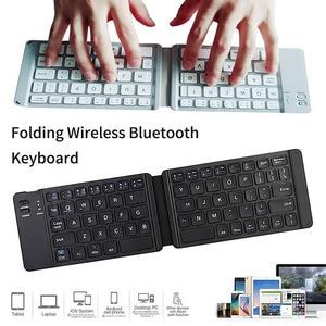 Image 4 - wireless folding Bluetooth keyboard Light and Handy Bluetooth 3.0 Folding Keyboard Foldable BT Wireless Keypad for phone laptop