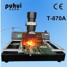 Авторизованный PUHUI T-870A сварочный аппарат BGA IRDA Инфракрасная паяльная оплавляющая печь IR паяльная станция