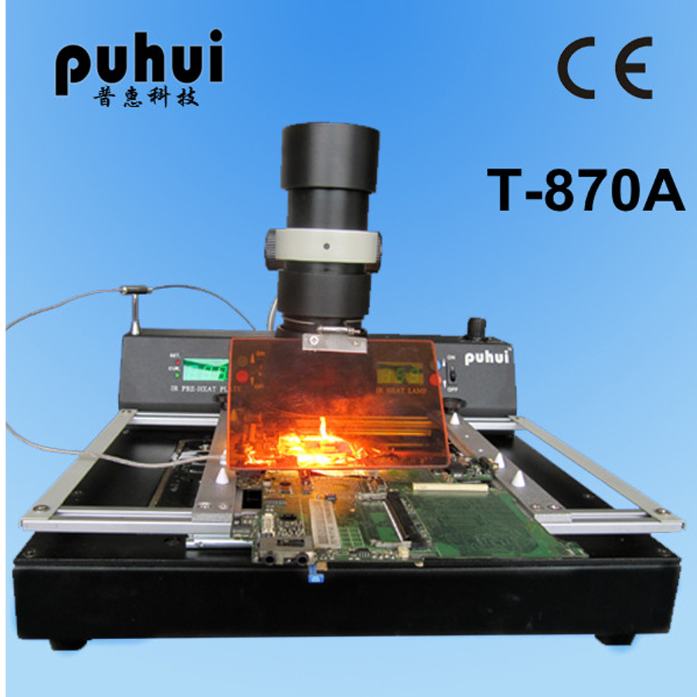 Authorized PUHUI T-870A BGA IRDA Welder Infrared Soldering Reflow Oven IR Rework Station hot selling bga welding machine irda welder puhui t862 bga rework station