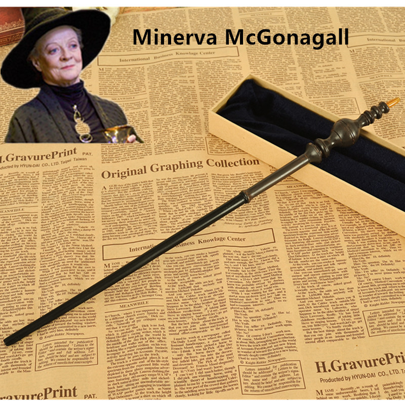 2016 Metal Core Newest Quality Deluxe Harry Potter COS Minerva McGonagall Magic Wands/Stick with Gift Box Packing