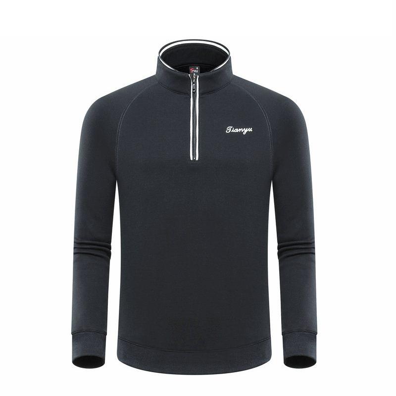 Men Winter Warm Golf Tops Long Sleeve Stand Collar Shirt Man Comfortable Training Sportswear High Quality D0655|Golf Shirts| |  - title=