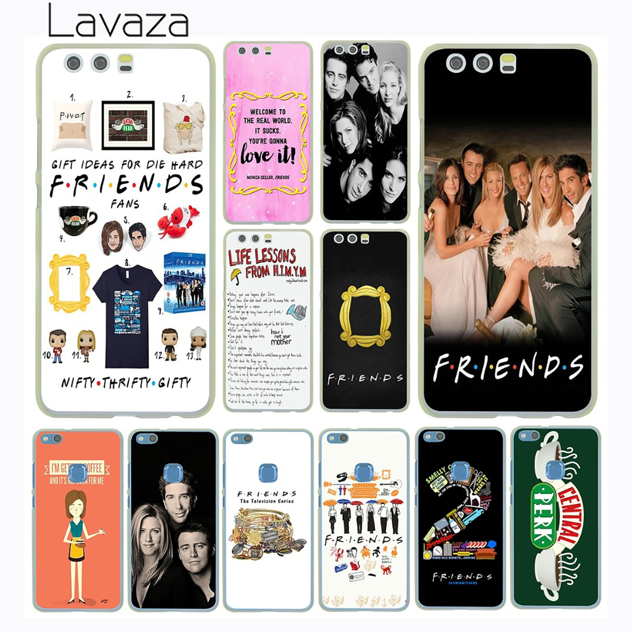 Lavaza <font><b>TV</b></font> Series Hot <font><b>Show</b></font> <font><b>Friends</b></font> <font><b>Phone</b></font> Poster Hard <font><b>Case</b></font> Cover for Huawei P8 P9 P10 Lite Plus G7 &#038; Honor 8 Lite 6 7 4C 4X